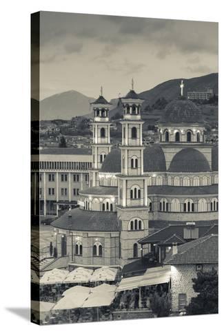 Albania, Korca, the Orthodox Cathedral, Boulevard Republika-Walter Bibikow-Stretched Canvas Print