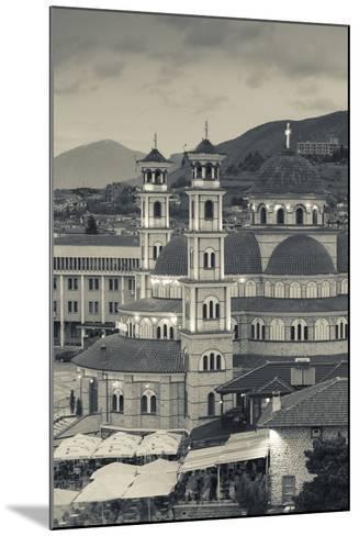 Albania, Korca, the Orthodox Cathedral, Boulevard Republika-Walter Bibikow-Mounted Photographic Print