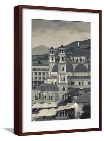 Albania, Korca, the Orthodox Cathedral, Boulevard Republika-Walter Bibikow-Framed Art Print