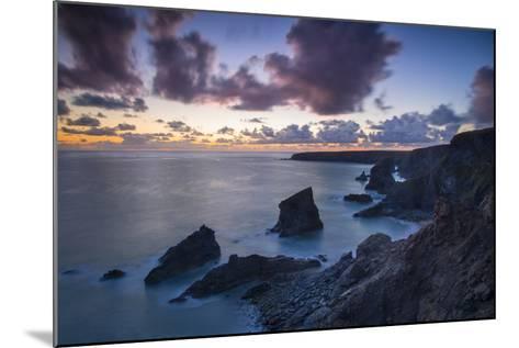 Twilight over the Bedruthan Steps Along the Cornwall Coast, England-Brian Jannsen-Mounted Photographic Print