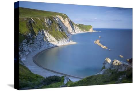 Overlooking Man O War Bay Along the Jurassic Coast, Dorset, England-Brian Jannsen-Stretched Canvas Print