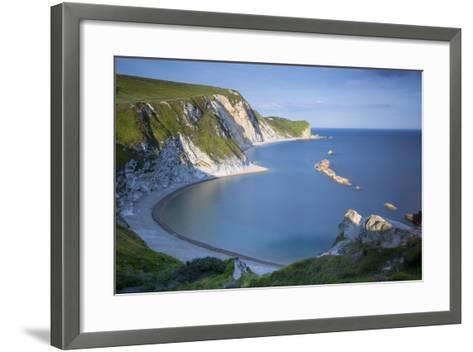 Overlooking Man O War Bay Along the Jurassic Coast, Dorset, England-Brian Jannsen-Framed Art Print