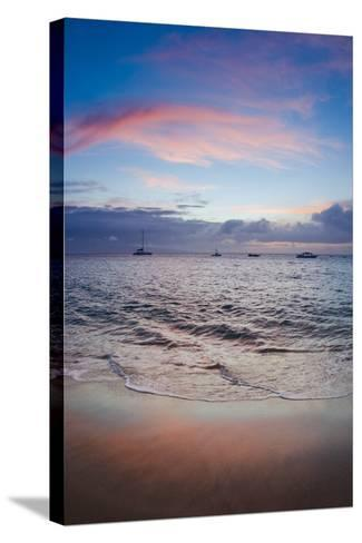 Sunset from Kaanapali Beach, Maui, Hawaii, Usa-Roddy Scheer-Stretched Canvas Print
