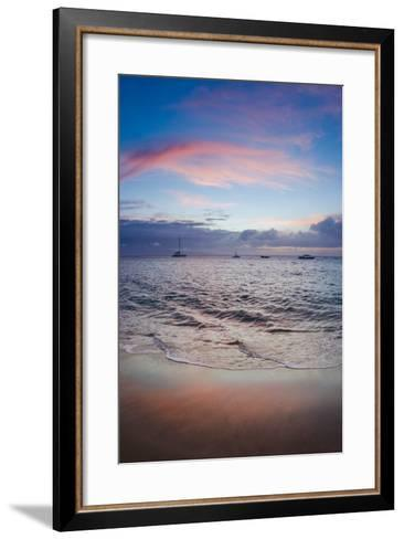 Sunset from Kaanapali Beach, Maui, Hawaii, Usa-Roddy Scheer-Framed Art Print