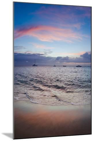 Sunset from Kaanapali Beach, Maui, Hawaii, Usa-Roddy Scheer-Mounted Photographic Print