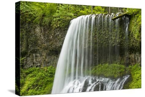 Middle North Falls, Silver Falls State Park, Oregon, Usa-Michel Hersen-Stretched Canvas Print