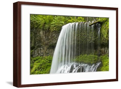Middle North Falls, Silver Falls State Park, Oregon, Usa-Michel Hersen-Framed Art Print