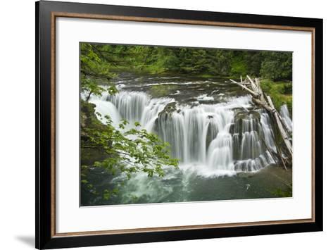 Lower Lewis Falls, Lewis River, Cougar, Washington, Usa-Michel Hersen-Framed Art Print