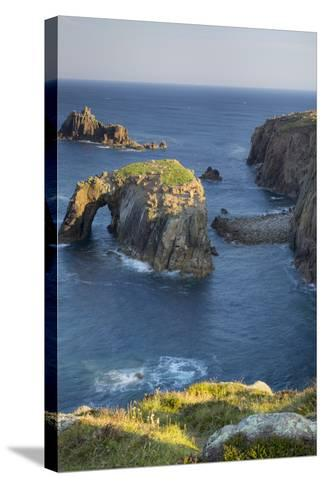 Morning over the Rocky Coastline Near Lands End, Cornwall, England-Brian Jannsen-Stretched Canvas Print