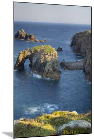 Morning over the Rocky Coastline Near Lands End, Cornwall, England-Brian Jannsen-Mounted Photographic Print