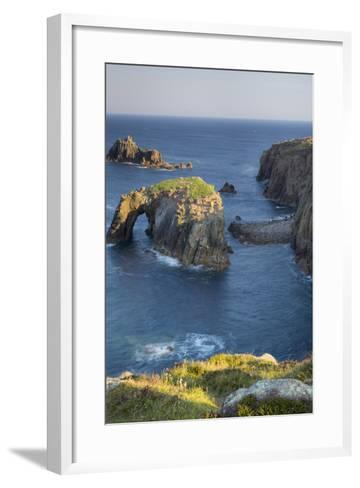 Morning over the Rocky Coastline Near Lands End, Cornwall, England-Brian Jannsen-Framed Art Print