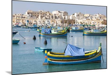 Luzzu Fishing Boats on the Harbor of Marsaxlokk, Malta-Martin Zwick-Mounted Photographic Print