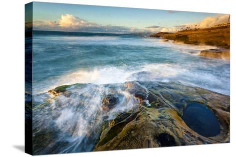 Rock Formations Along the Coastline Near Sunset Cliffs, San Diego, Ca-Andrew Shoemaker-Stretched Canvas Print