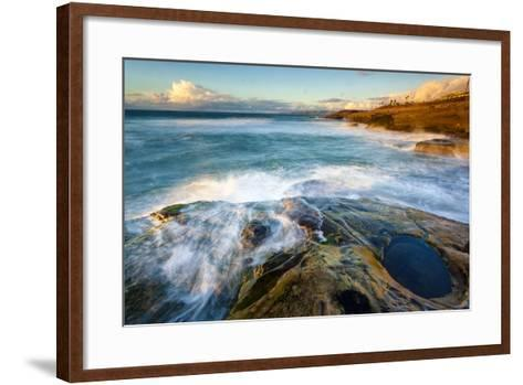 Rock Formations Along the Coastline Near Sunset Cliffs, San Diego, Ca-Andrew Shoemaker-Framed Art Print
