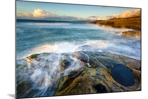 Rock Formations Along the Coastline Near Sunset Cliffs, San Diego, Ca-Andrew Shoemaker-Mounted Photographic Print