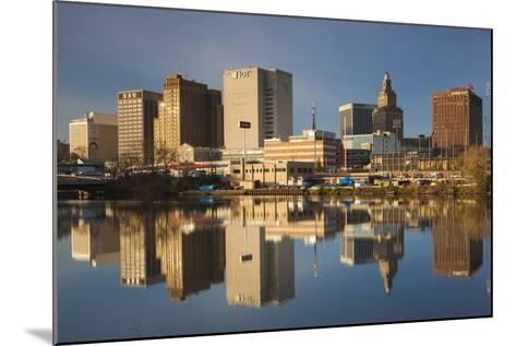 USA, New Jersey, Newark, City Skyline from Passaic River, Morning-Walter Bibikow-Mounted Photographic Print