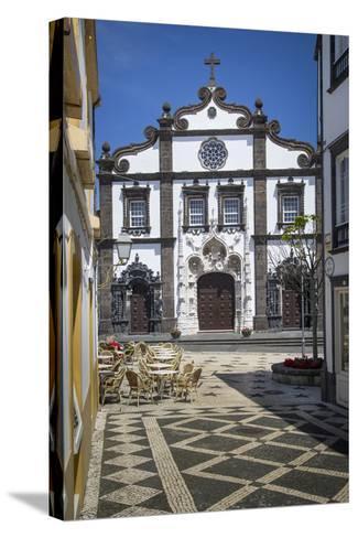 Church of Saint Sebastian in Ponta Delgada, AZores, Portugal-Brian Jannsen-Stretched Canvas Print