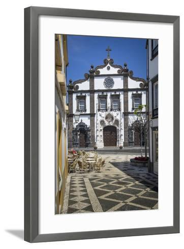 Church of Saint Sebastian in Ponta Delgada, AZores, Portugal-Brian Jannsen-Framed Art Print
