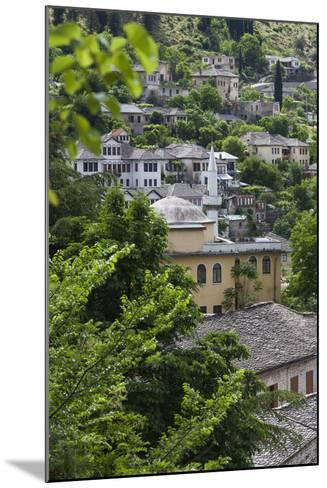 Albania, Gjirokastra, Elevated View of Ottoman Houses-Walter Bibikow-Mounted Photographic Print