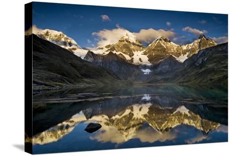 Mt Alpamayo in Ancash Region, Cordillera Blanca, Andes Mountains, Peru-Howie Garber-Stretched Canvas Print