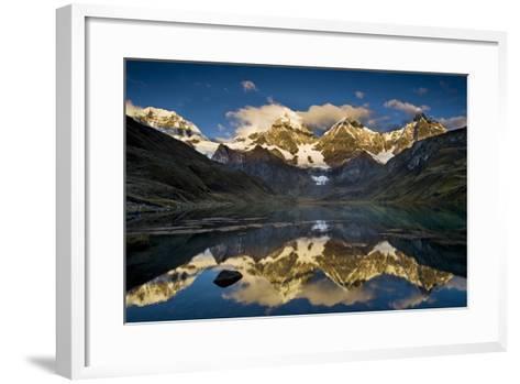 Mt Alpamayo in Ancash Region, Cordillera Blanca, Andes Mountains, Peru-Howie Garber-Framed Art Print