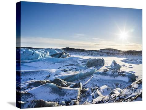 Svinafellsjoekull Glacier in Vatnajokull National Park During Winter-Martin Zwick-Stretched Canvas Print