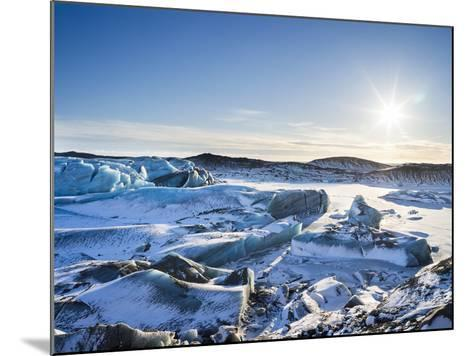 Svinafellsjoekull Glacier in Vatnajokull National Park During Winter-Martin Zwick-Mounted Photographic Print
