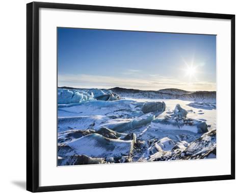 Svinafellsjoekull Glacier in Vatnajokull National Park During Winter-Martin Zwick-Framed Art Print