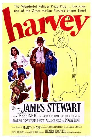 Harvey - Movie Poster Reproduction--Stretched Canvas Print
