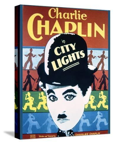 City Lights - Movie Poster Reproduction--Stretched Canvas Print