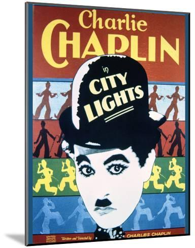 City Lights - Movie Poster Reproduction--Mounted Art Print