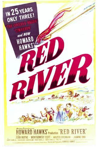 Red River - Movie Poster Reproduction--Stretched Canvas Print