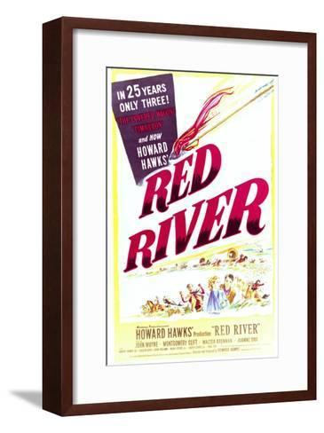 Red River - Movie Poster Reproduction--Framed Art Print
