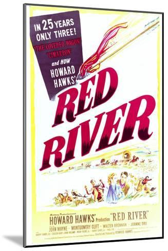 Red River - Movie Poster Reproduction--Mounted Art Print