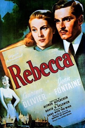 Rebecca - Movie Poster Reproduction--Stretched Canvas Print