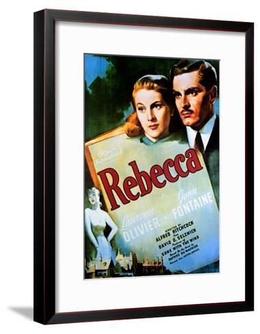 Rebecca - Movie Poster Reproduction--Framed Art Print