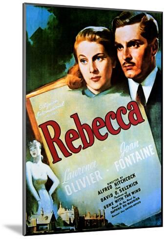 Rebecca - Movie Poster Reproduction--Mounted Art Print