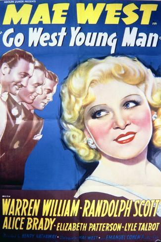 Go West Young Man - Movie Poster Reproduction--Stretched Canvas Print