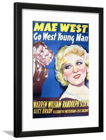 Go West Young Man - Movie Poster Reproduction--Framed Art Print