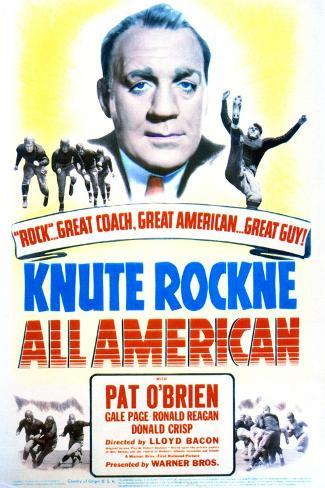 Knute Rockne All American - Movie Poster Reproduction--Stretched Canvas Print