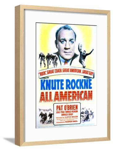 Knute Rockne All American - Movie Poster Reproduction--Framed Art Print