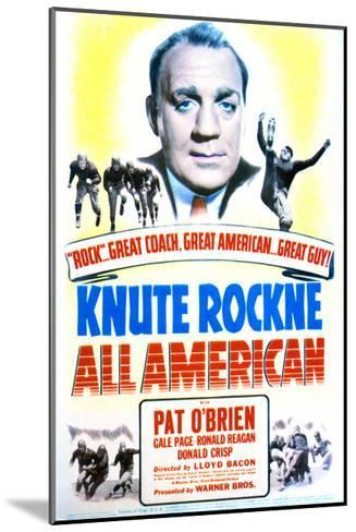 Knute Rockne All American - Movie Poster Reproduction--Mounted Art Print