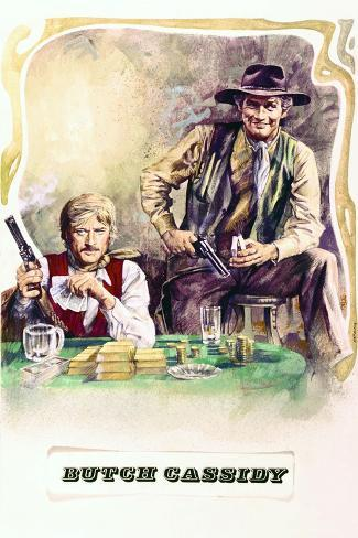 Butch Cassidy and the Sundance Kid - Movie Poster Reproduction--Stretched Canvas Print
