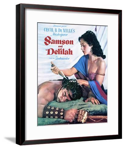 Samson and Delilah - Movie Poster Reproduction--Framed Art Print