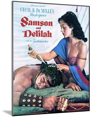 Samson and Delilah - Movie Poster Reproduction--Mounted Art Print