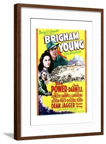 Brigham Young - Movie Poster Reproduction--Framed Art Print