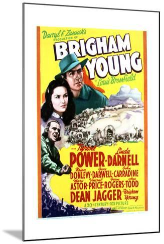 Brigham Young - Movie Poster Reproduction--Mounted Art Print