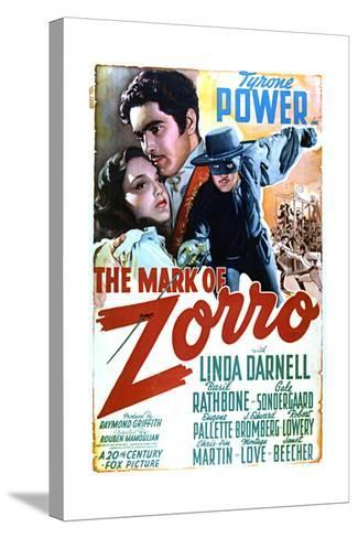 The Mark of Zorro - Movie Poster Reproduction--Stretched Canvas Print