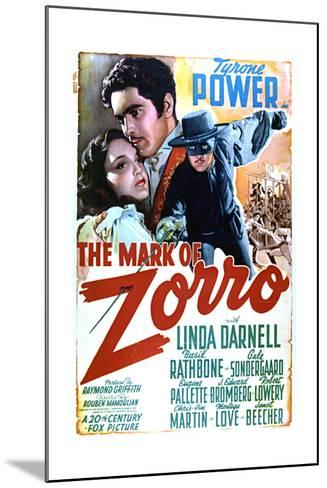 The Mark of Zorro - Movie Poster Reproduction--Mounted Art Print