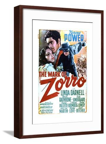 The Mark of Zorro - Movie Poster Reproduction--Framed Art Print
